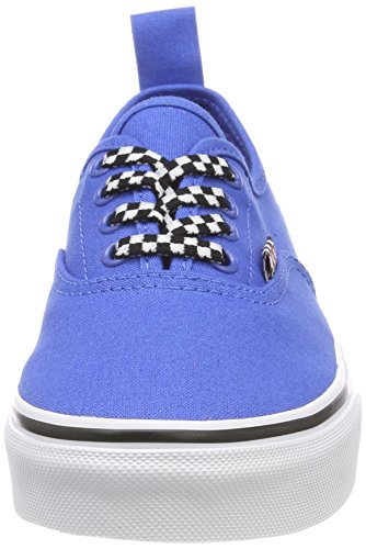 Vans Unisex-Kinder Authentic Elastic Lace Sneaker Blau (Check Lace)