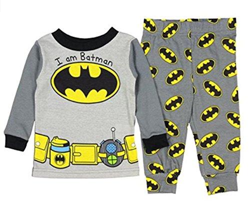 DC Comics Batman Baby Boys' Toddler I Am Batman Pajama Set (18 month, Grey) -