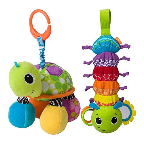 Infantino Topsy Turtle Mirror Toy with Hug & Tug Musical Bug