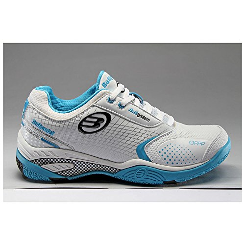 Bull Padel - 47829 - Zapatillas Padel Mujer - Color : Blanco y Azul - Talla : 39: Amazon.es: Zapatos y complementos