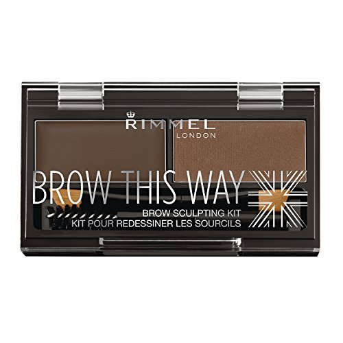Rimmel Brow This Way Sculpting Kit, Dark Brown, 0.04 (Brow Kit)