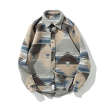 WSDMY ////Tie Dye Snap Button Manches Longues Chemises Hommes Mode Casual Streetwear Robe Habill/ée Chemise Manteaux M/âle Hipster Chemises Tops