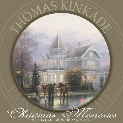 750 Piece Thomas Kinkade Round-Christmas Memories