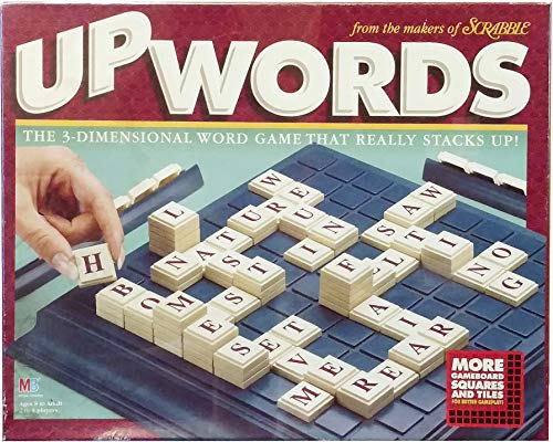 Upwords 3-Dimensional Word Game 1997 Edition with 100 Tiles
