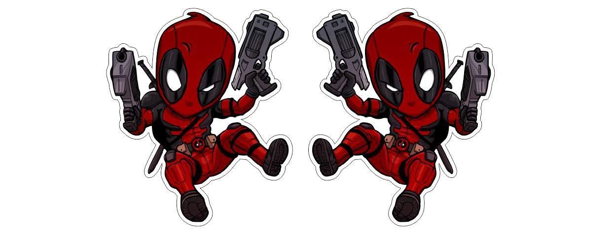 Amazon.com: Deadpool Superhero con pistolas Guy Dude Comic ...