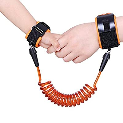 Anti Lost Wrist Link Traction Rope Bracelet Wristband Safety Harness Child Leash for Toddler, Baby and Kids by RexRod