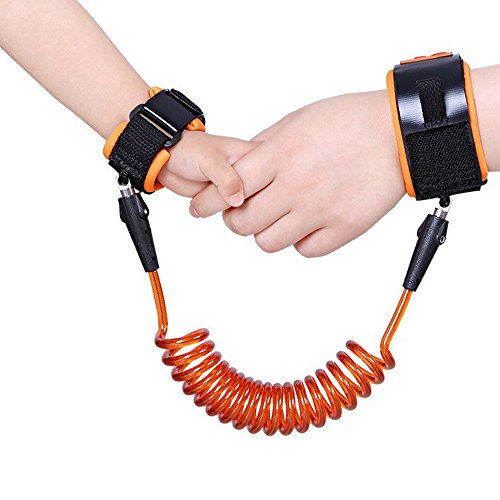 Anti Lost Wrist Link Traction Rope Bracelet Safety Harness Child Leash for Toddler, Baby and Kids by RexRod -