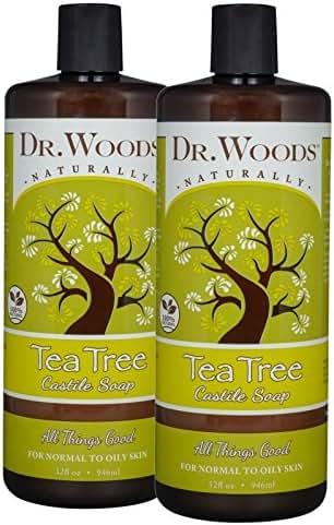 Dr. Woods Pure Tea Tree Liquid Castile Soap, 32 Ounce (Pack of 2)