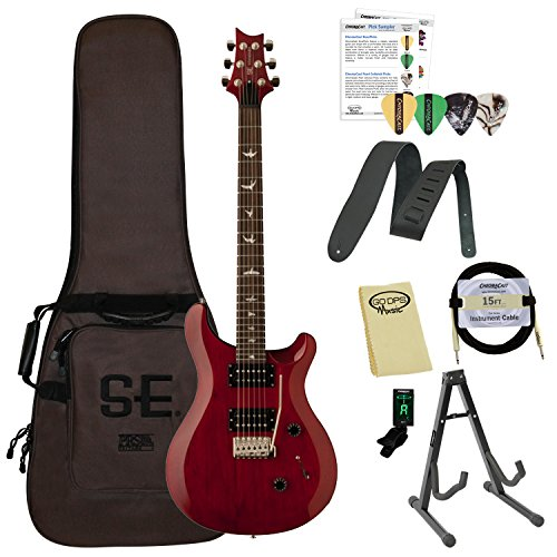 PRS SE Standard 24 Electric Guitar with Accessories, Vintage Cherry