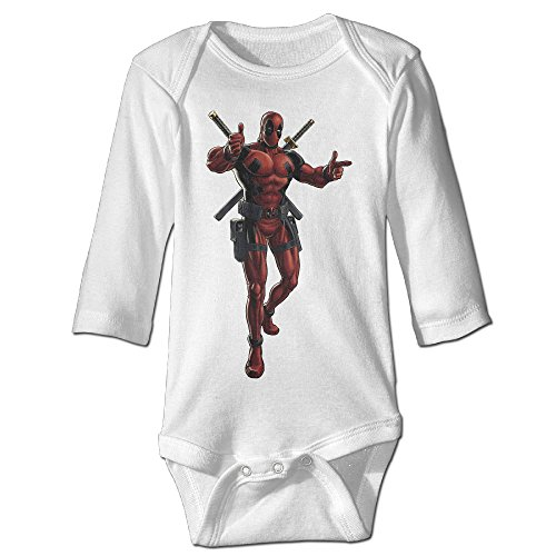 [Raymond Deadpool Portrait Art Long Sleeve Bodysuit Baby Onesie White 6 M] (Wicked Musical Costumes Sale)