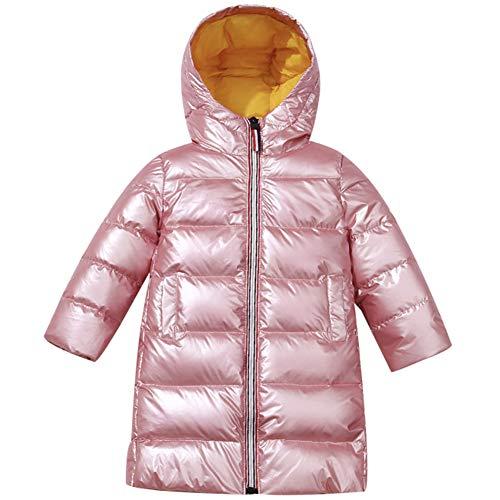 amropi Kids Meisjes Hooded Down Jacket Puffer Gewatteerde Jas Lange Uitloper voor 3-12 Jaar