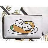 Japanese Game Neko Atsume ねこあつめ Cat Backyard Cute Pen Bag Pencil Case Pouch (A)