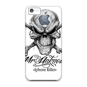 Excellent Design Skull Personnal Case Cover For Iphone 5c