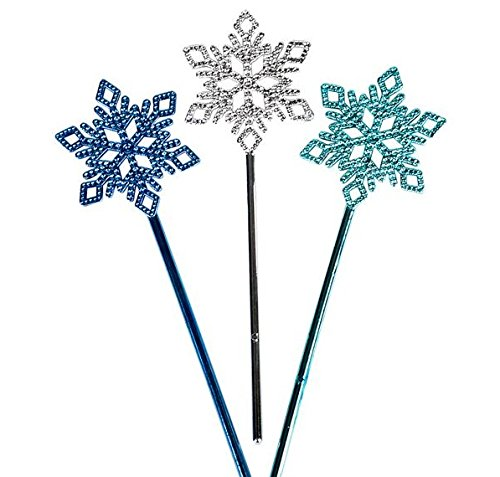 (Snow Flake Winter Wand - 12 Pack - Party Favors, Goody Bags, Party Supplies, Prizes, Events, Stocking Stuffers)