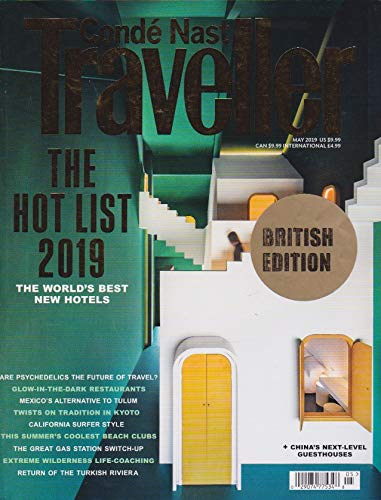 Conde' Nast Traveller magazine, MAY 2019 THE HOT LIST 2019 (Conde Nast Traveller)