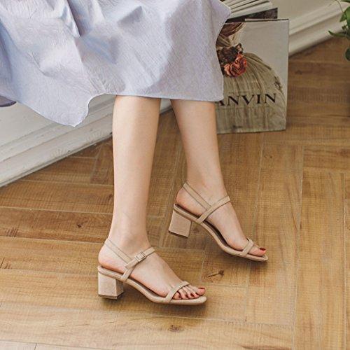 Verano Sandalias Tacón de áspero Zapatos con A Femeninas con Zapatos gqx1Z6g
