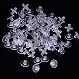 Outus 100 Pack Clear Rubber Earring Safety Backs Clutch Earring Pad