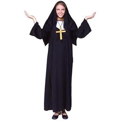 Amazon.com: De la Mujer Nun vestuario – Disfraz para ...