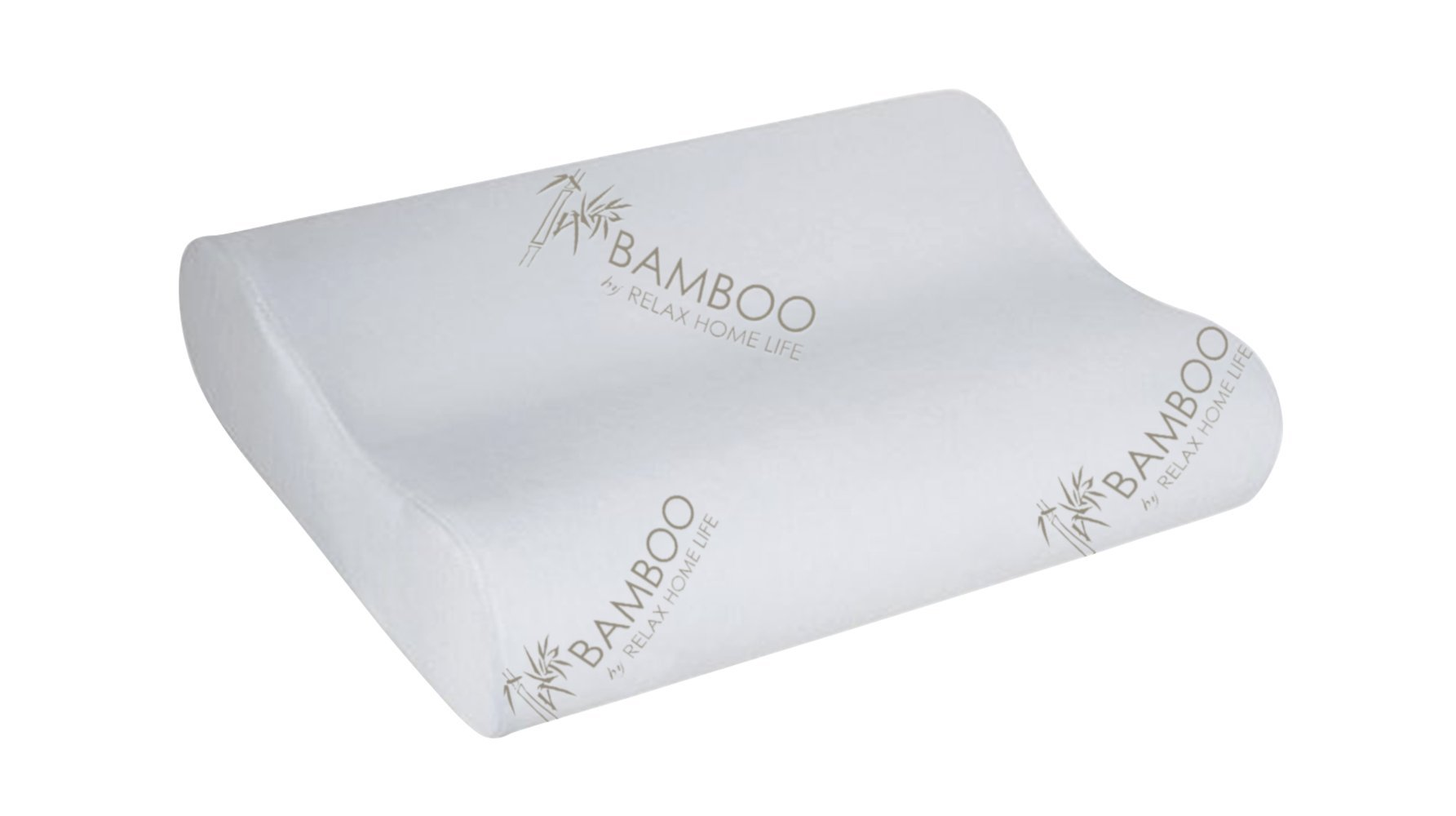 Relax Home Life Cervical Contour Memory Foam Bamboo Pillow | Standard Size | Stay Cool Removable Cover (Standard)