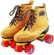 Roller Skates for Women & Man Classic Quad Artistic Roller Skates for Rink and Rythmic Ska