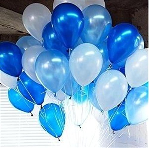 PuTwo Balloons 100 Packs 12 Inch Kids Party Supplies Wedding Decorations Birthday Decoration - (Blue Party Supplies)