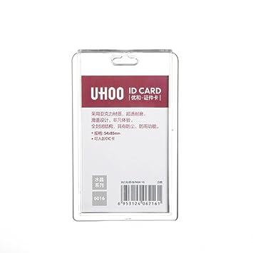 amazon com transparent acrylic vertical id badge holder case