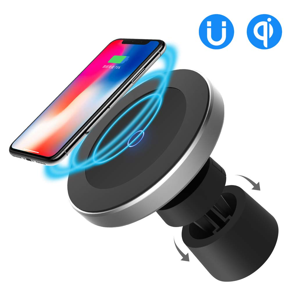 Funxim Magnetic Wireless Car Charger W5, Air Vent and Dashboard Mount Holder Cradle Qi Standard Compatible with Any Qi Enabled Smartphone by Funxim
