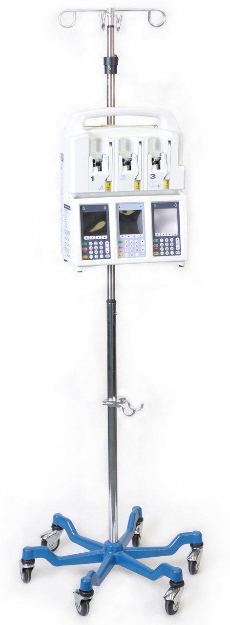 US Med-Equip 8060 Heavy Duty IV Pole - Six Legged