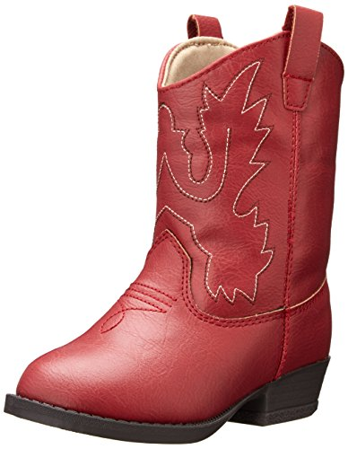 Baby Deer Western Boot (Infant/Toddler),Red,8 M US Toddler ()
