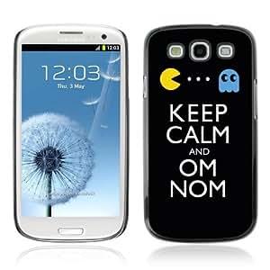 Designer Depo Hard Protection Case for Samsung Galaxy S3 / Keep Calm & Om Nom