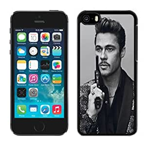 New Personalized Custom Designed For iPhone 5C Phone Case For Brad Pitt with A Pistol Phone Case Cover wangjiang maoyi by lolosakes