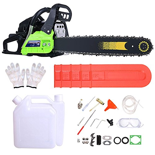 Garain 59CC 20'' Petrol Chainsaw 3.4 HP Gas Powered Woodcutting Saw 2 Stroke, Carry Bag, 23pc Tool Kit by Garain