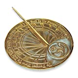 Rome Industries Gardener Sundial in Brass