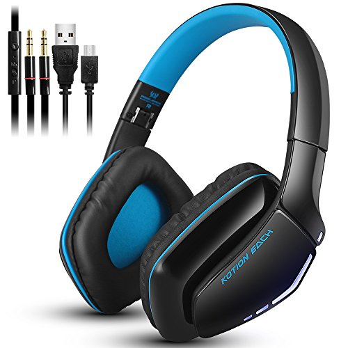 KOTION EACH B3506 V4.1 Bluetooth Hifi Bass Stereo Headphone, Wireless Headset with Built-in Microphone for Cell Phone Tablet PC Mp4 PS4