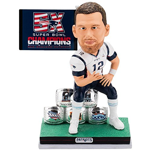 TOM BRADY SPECIAL LIMITED EDITION EDITION BOBBLEHEAD 5 SUPERBOWL RINGS