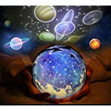 3 in 1 Star Projector Night Light, Rotatable Cosmos Sky Starry Projector Lamp with Multi-Color for Kids Baby Nursery Birthday Party -3 Sets of Transparency