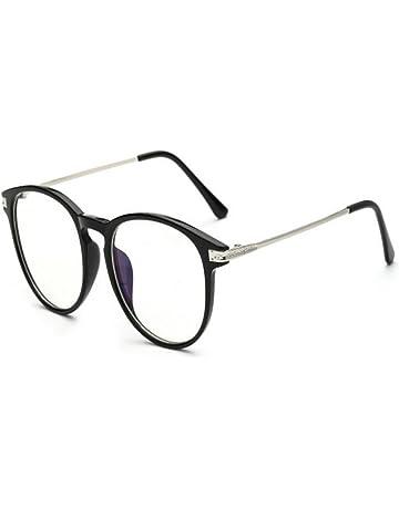 40fdc31b70fee2 Hzjundasi Lumière bleue Filtre Ordinateur Des lunettes Anti-rayonnement UV  Lentille claire Vintage Rond Goggle