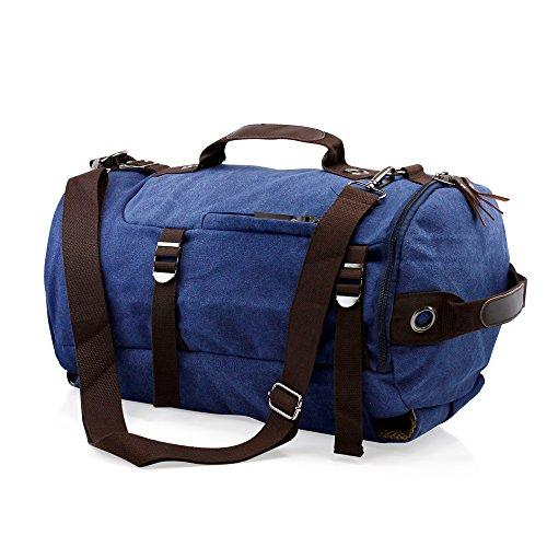Oct17 Large Duffel Travel Canvas Bag Hiking Shoulder Backpack School Sports Messenger - Bourke Street Stores