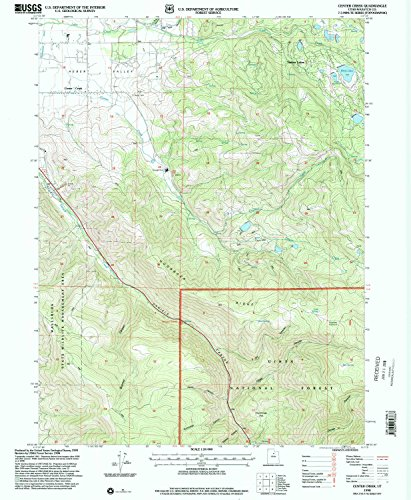 Center Creek UT topo map, 1:24000 scale, 7.5 X 7.5 Minute, Historical, 1998, updated 2000, 26.6 x 21.9 IN - - Creek Center City Map