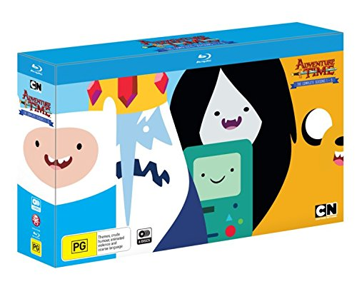 Adventure Time (Complete Seasons 1-5) - 6-Disc Box Set ( Adventure Time with Finn & Jake ) ( Adventure Time - Complete Seasons One to Five ) [ Blu-Ray, Reg.A/B/C Import - Australia ]