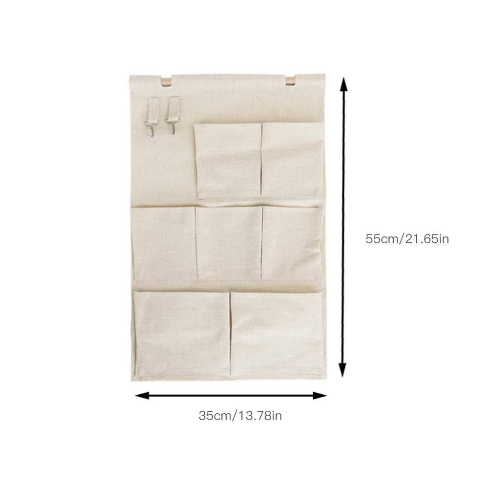 xiangpian183 Morbido Tessuto sopra la Porta pensile portaoggetti con 3 Grandi Tasche per Bambino//Baby Room Occhiali da Sole Portamonete Chiavi