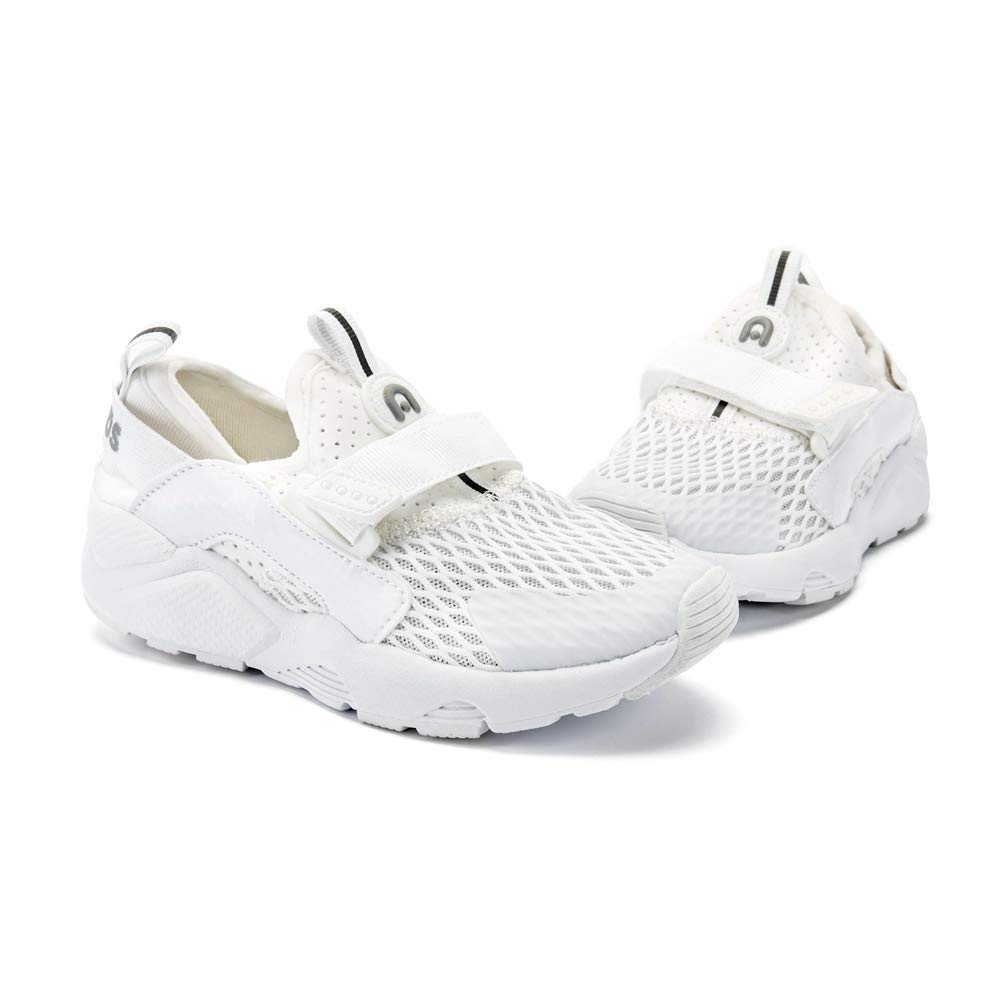 ABC KIDS Sneakers Basic for Boys and Girls, Kids Lightweight Athletic Comfort Mesh Breathable Shoes (White3, 9 M US(Little Kids)) by ABC KIDS (Image #2)