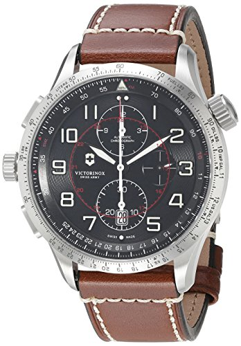 Victorinox-Mens-AirBoss-Swiss-Automatic-Stainless-Steel-and-Leather-Casual-Watch-ColorBrown-Model-241710