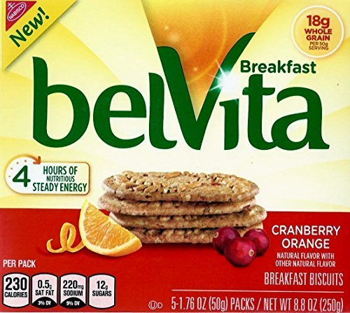 Belvita Breakfast Biscuits Cranberry Orange, 2 X 8.8 Oz Boxes, by Belvita