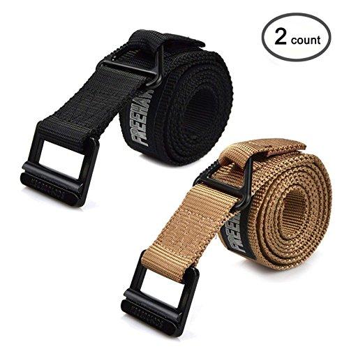 - Freehawk Survival Tactical Belt, Emergency Fire Rescue Rigger Waist Belt Military CQB Belt (Black+Khaki)