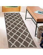 SHACOS Extra Long Doormat Indoor Outdoor 20x59 inch Door Mat Runner Non Slip Waterproof Backing Washable Dirt Trapper Floor Runner Mat for Entryway Kitchen Garage, Brown