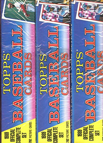 LOT OF 3 1989 Topps Baseball Card Complete Set Collection FACTORY SEALED BOX from Topps