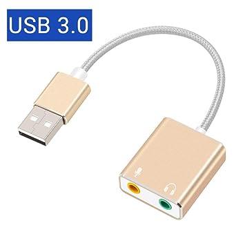 HCHD 7.1 Tipo De Tarjeta De Sonido USB Externa C/USB A Conector De ...