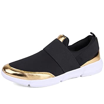 6a3ce8486db7e Amazon.com: DETAIWIN Women's Fashion Sneakers Breathable Slip On ...