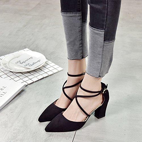 En con Furgoneta High La Zapatos Eu40 Heeled Femeninos Sandals Chica Partido En Zapatos El con EU38 Empate De Luz SHOESHAOGE La Ranurada Singles Punta wpIxn4qY